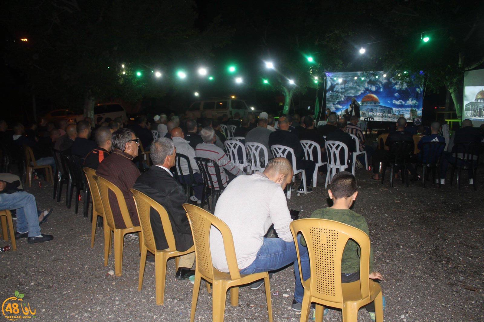 بالصور: خيمة الهدى الدعوية تُنظم أمسية ايمانية في أرض السوق بيافا