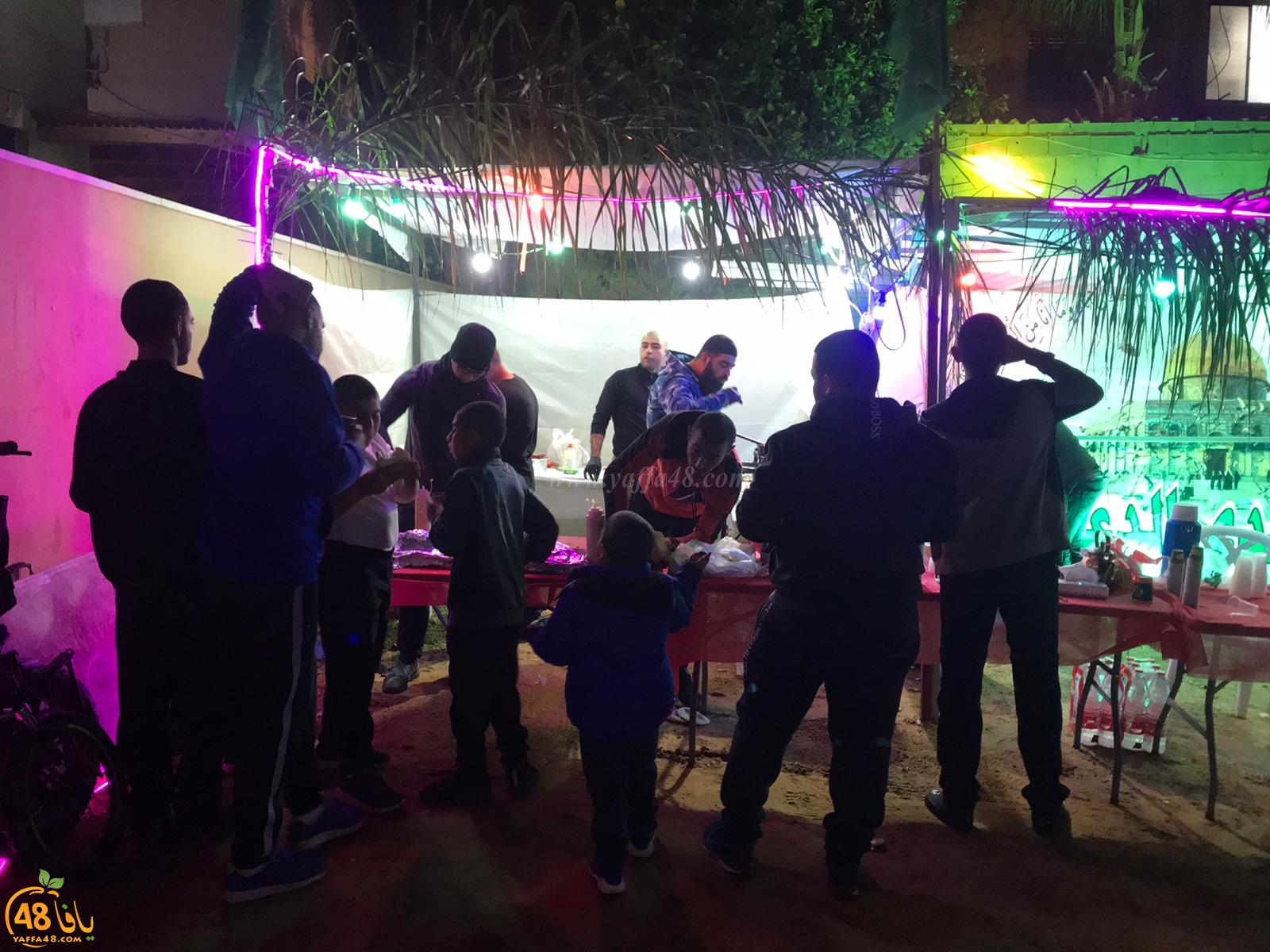 بالصور: خيمة الهدى تنظم أمسية دعوية في ضيافة عائلة كراجة بيافا