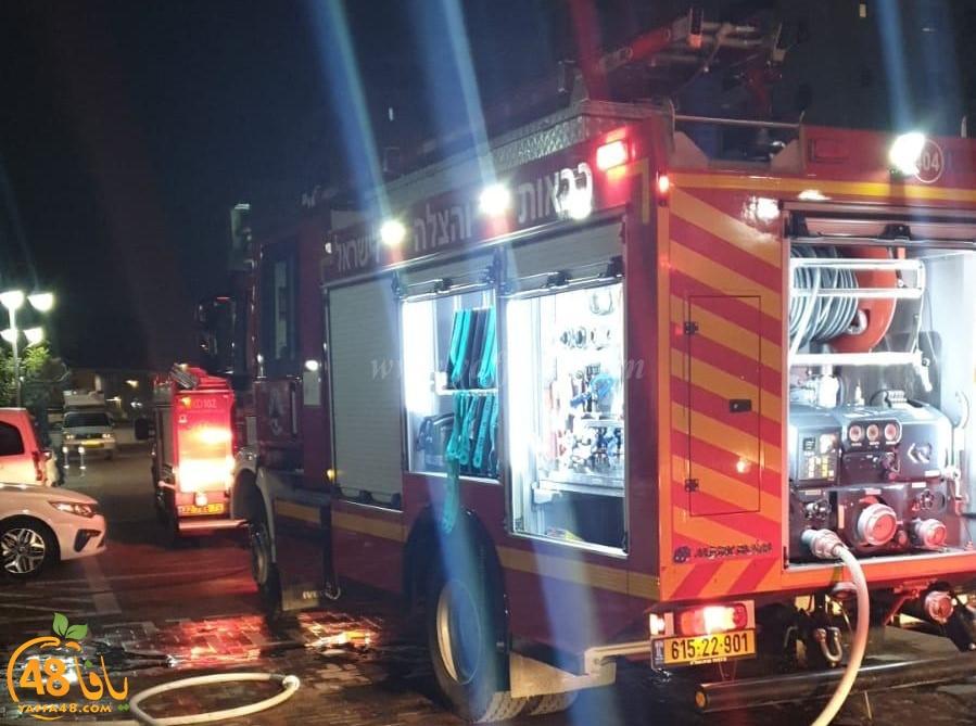 فجر اليوم - حريق داخل مبنى سكني في مدينة الرملة