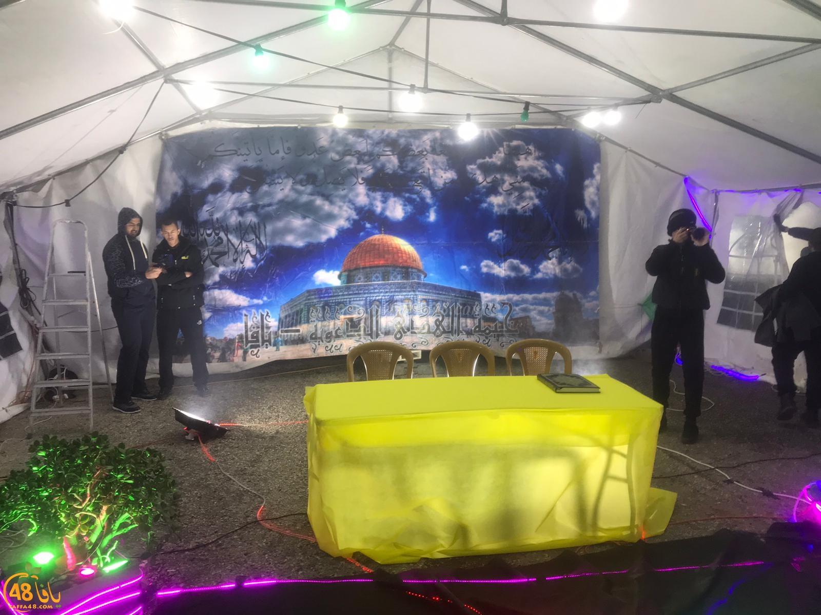 بالصور: خيمة الهدى تنظّم أمسية دعويّة في ضيافة عائلة بوبلي بيافا