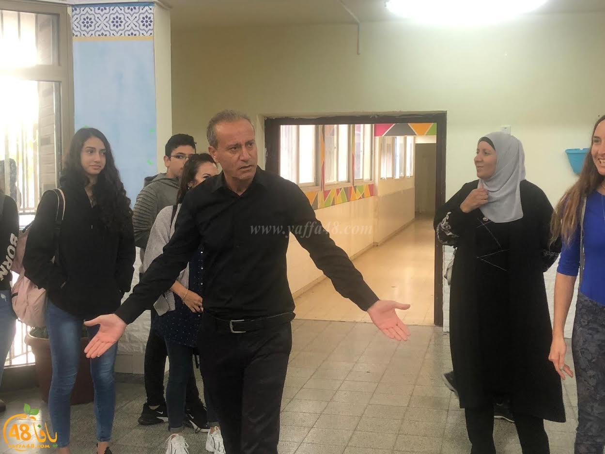 مشروع خلاف ذلك في مدرسة دار الحكمة الاعدادية بمدينة اللد