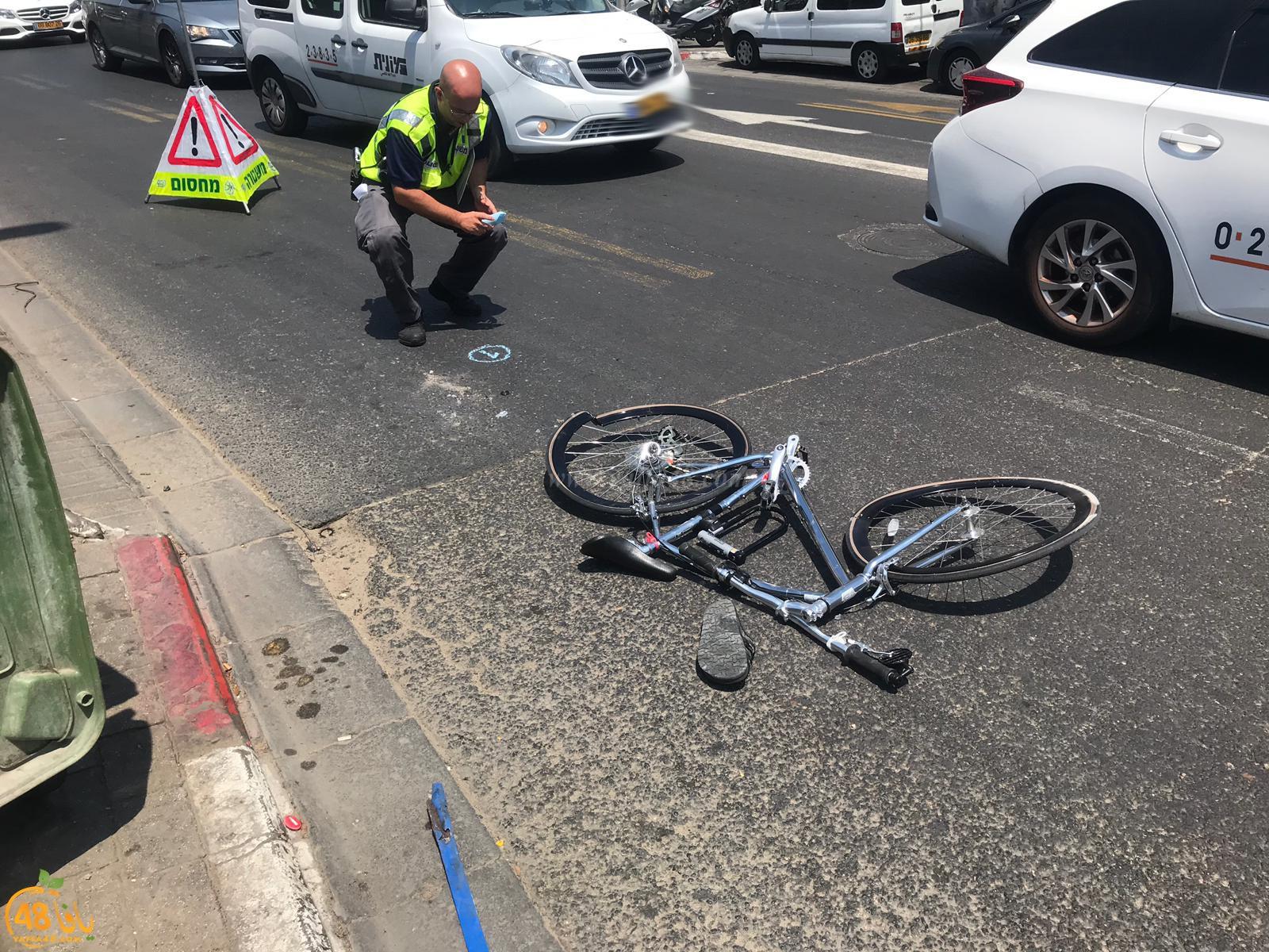 اصابة حرجة لراكب دراجة هوائية اثر تعرضه لحادث دهس في مدينة يافا