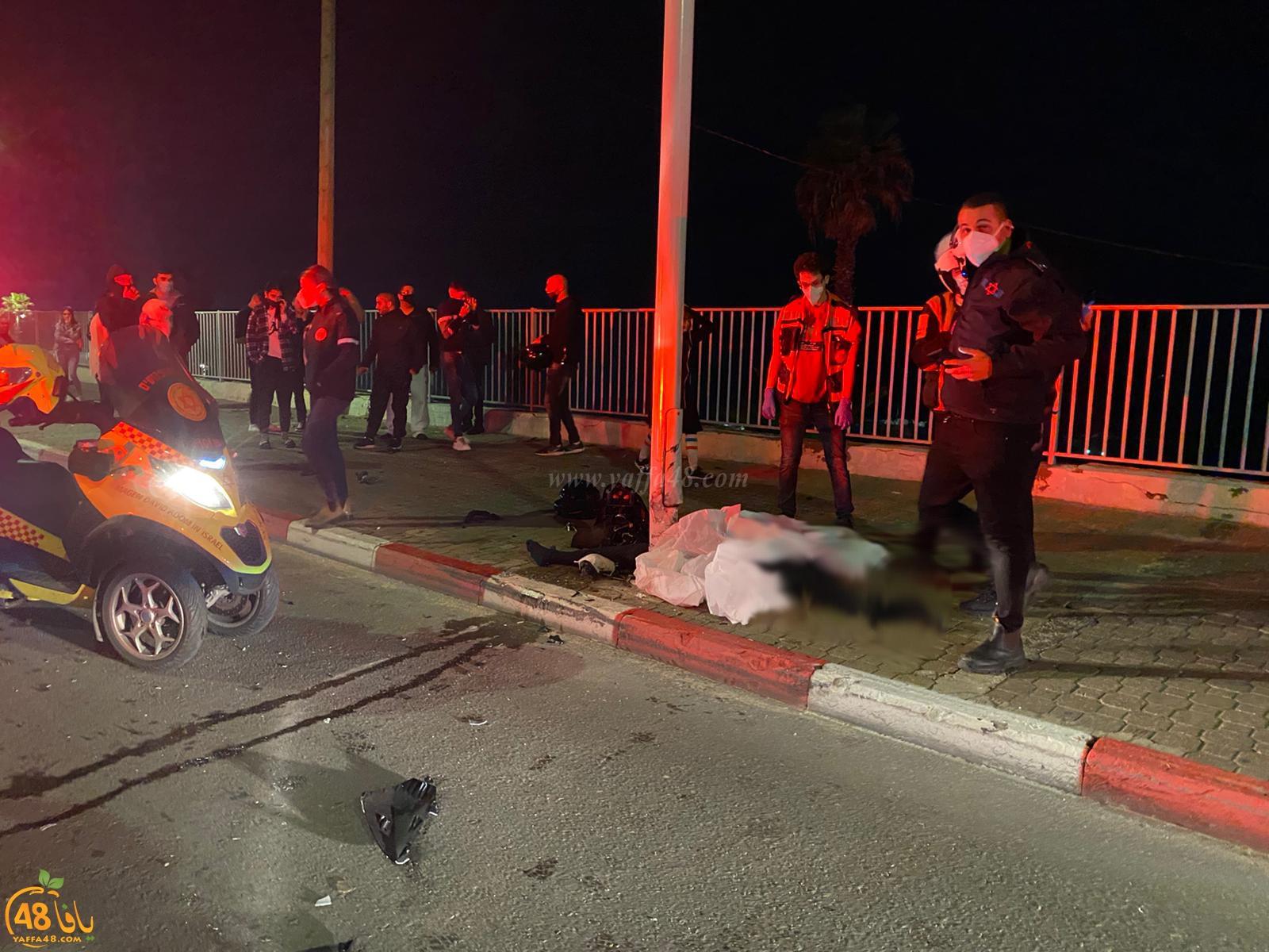 مصرع راكب دراجة نارية بحادث طرق في بات يام جنوب يافا