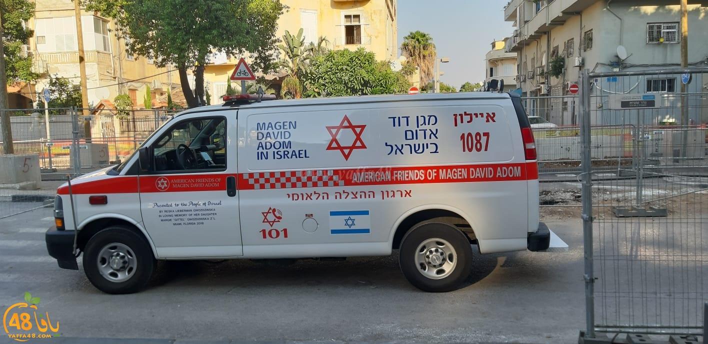 يافا: شخص يُصاب بنوبة قلبية بشارع شديروت يروشلايم والطواقم الطبية تهرع للمكان
