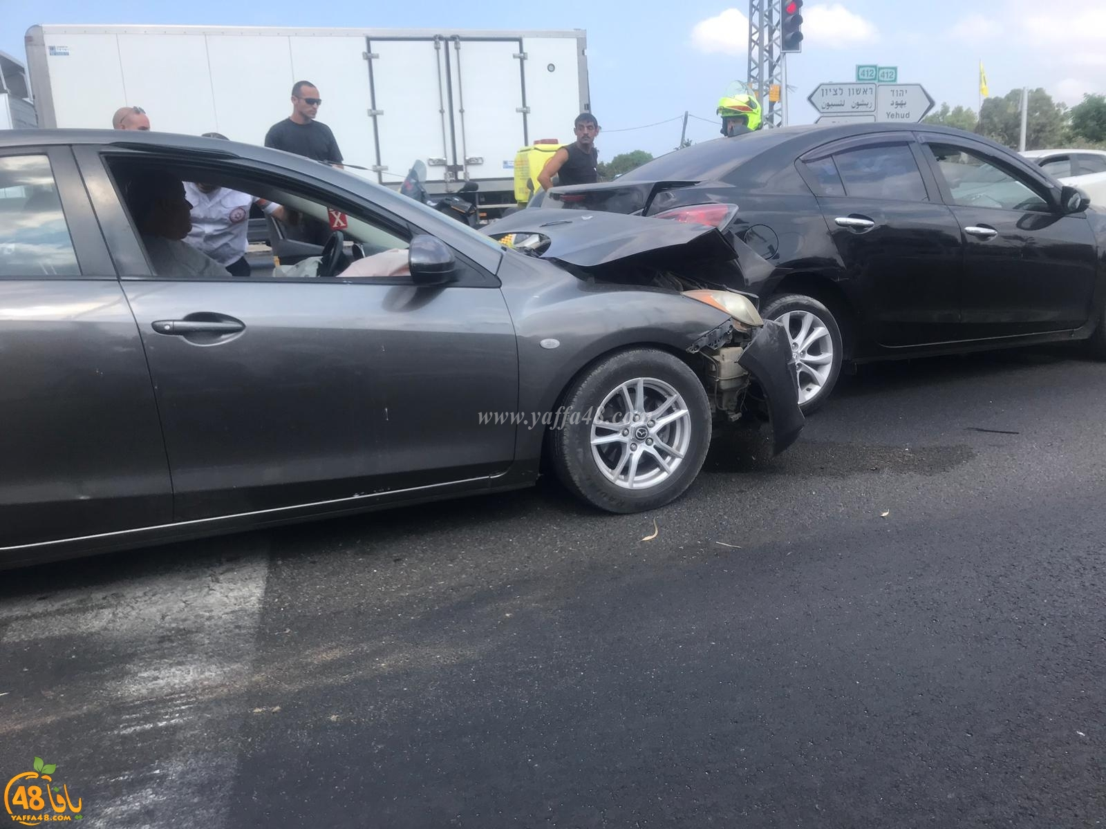 إصابتان متوسّطتان في حادث طرق شرق يافا