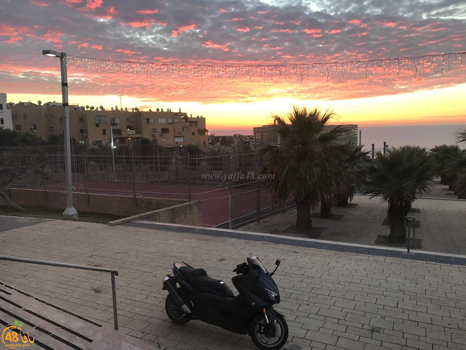 صورتي الأجمل - صور رائعة لغروب الشمس في مدينة يافا