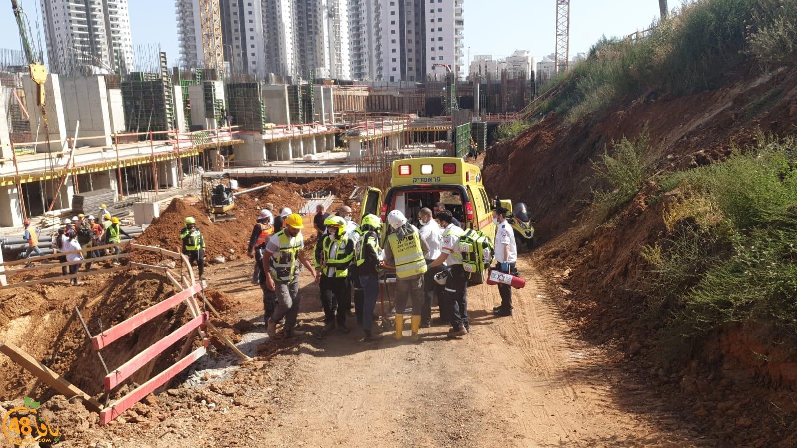 الرملة: انهيار سقف في ورشة بناء يُسفر عن اصابة عامل