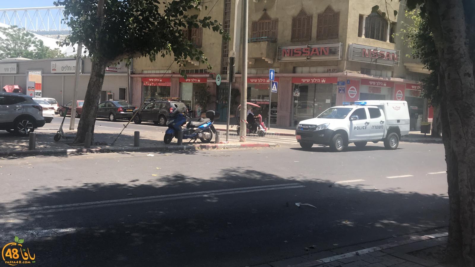 فيديو: تفكيك جسم مشبوه في شارع بنتسفي بمدينة يافا