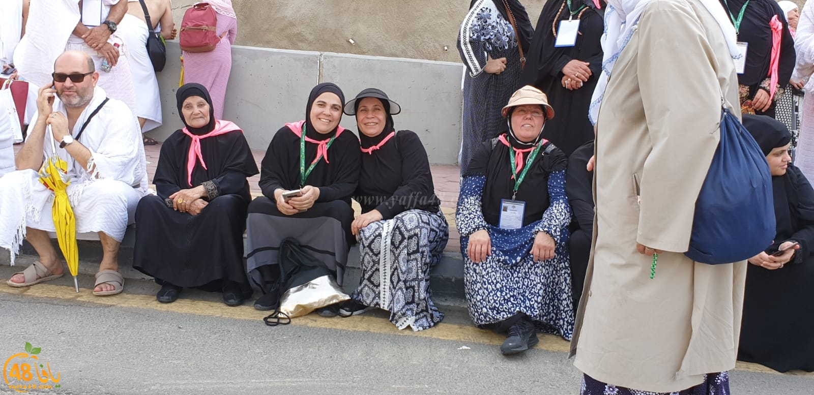 صور لحجاج مدينة يافا خلال تواجدهم في منى
