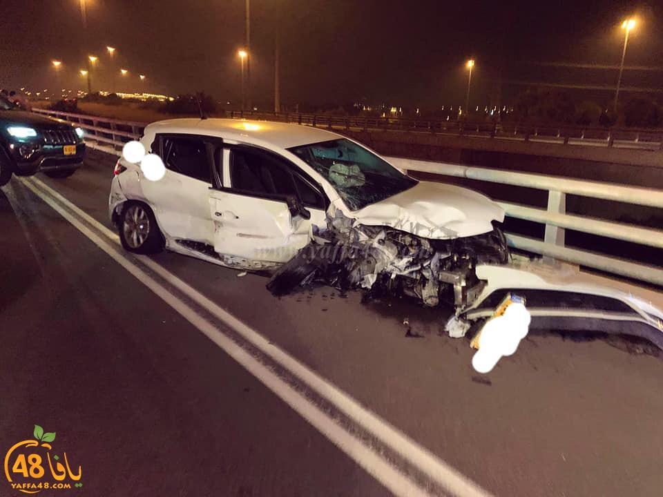 اصابة متوسطة لسائق بحادث طرق ذاتي قرب الرملة