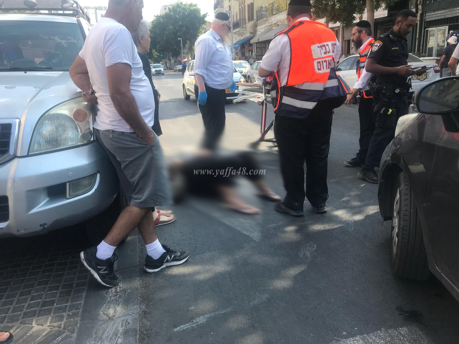 بالصور: اصابة متوسطة لسيدة بحادث دهس في يافا