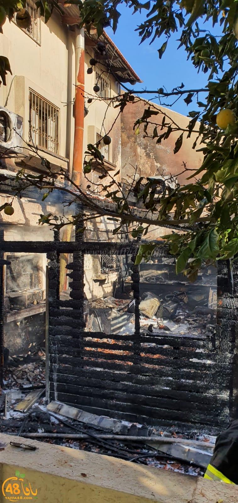 فيديو: مصرع رجل 50 عاماً اثر احتراق منزل في مدينة الرملة