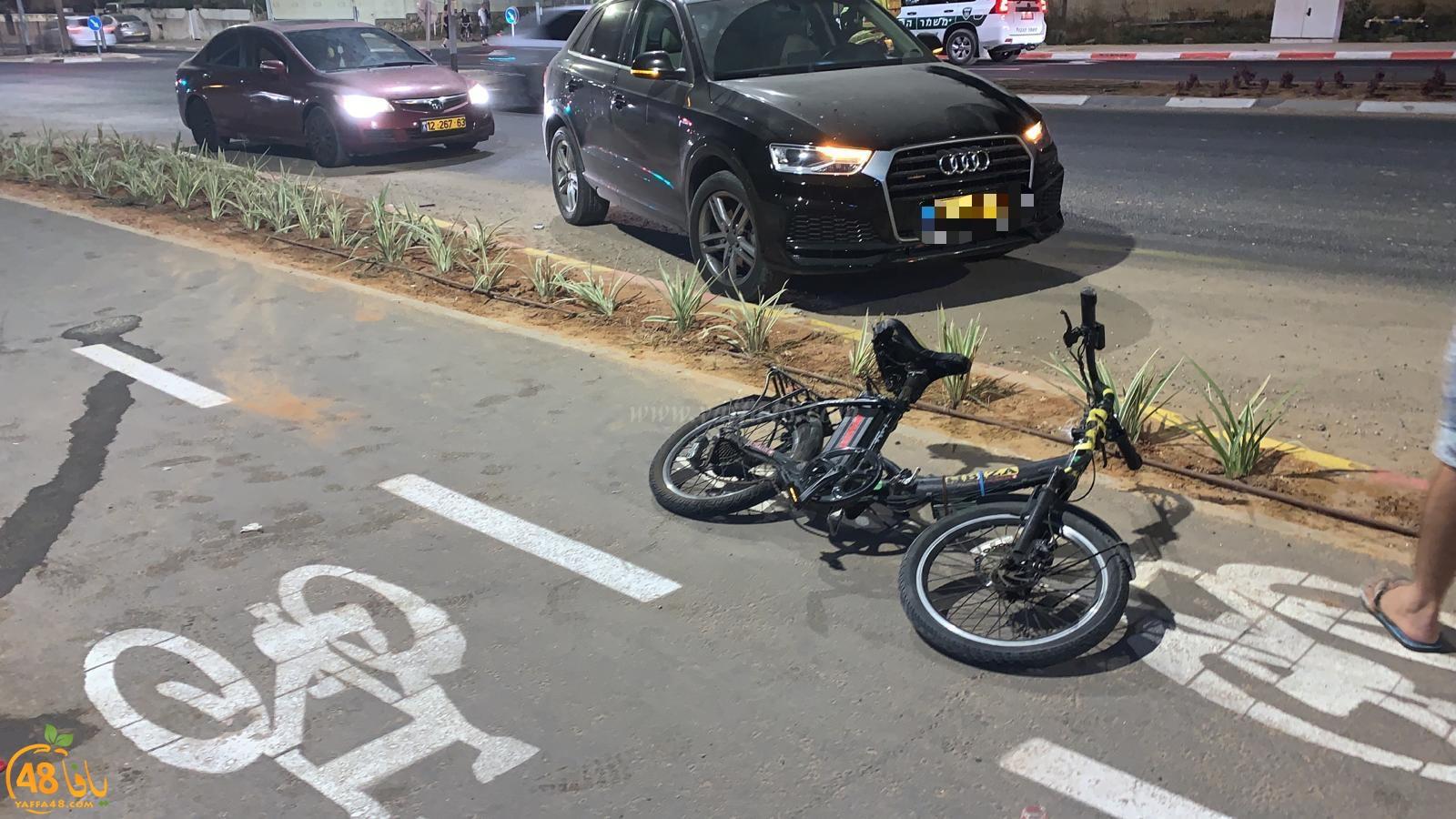 الرملة: إصابة متوسطة لراكب دراجة كهربائية بحادث دهس