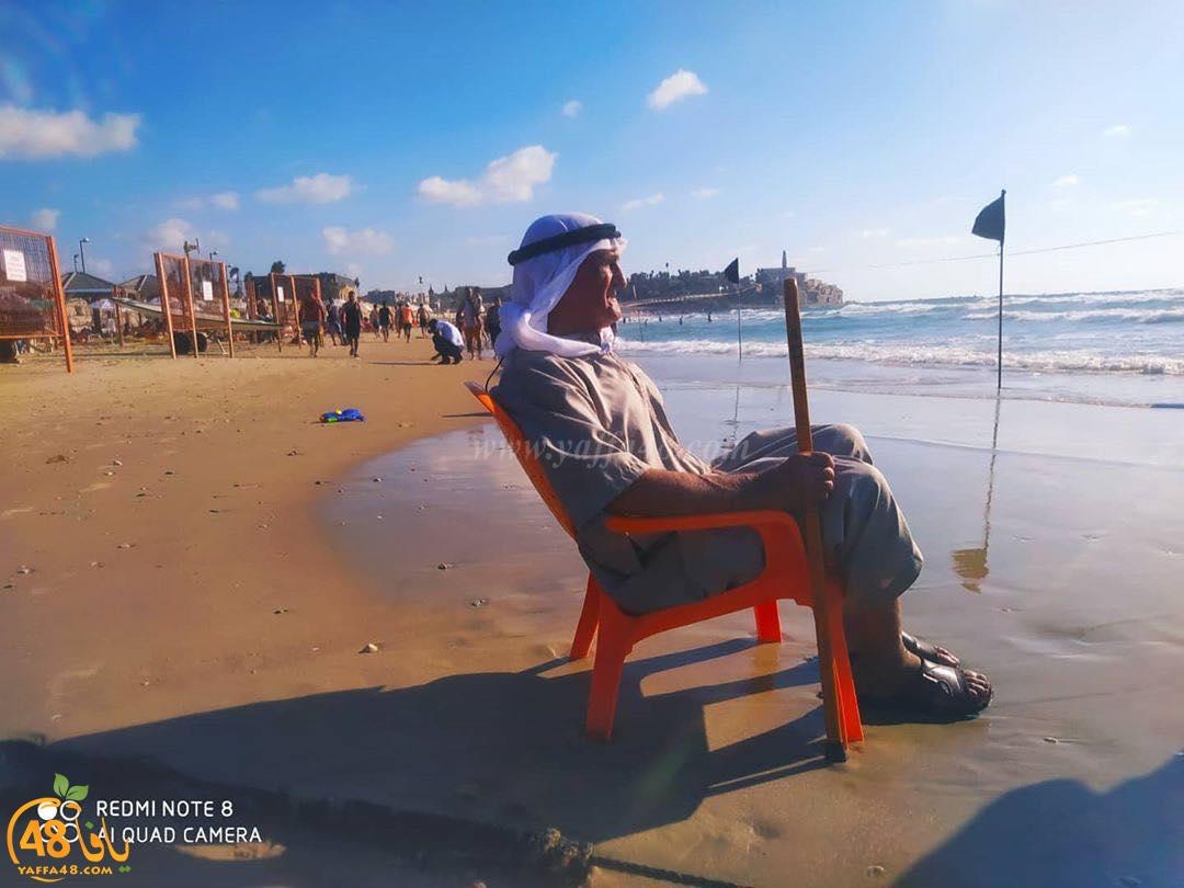 صور: الحاج اسماعيل صالح من سلفيت يزور بحر يافا لأول مرّة في حياته