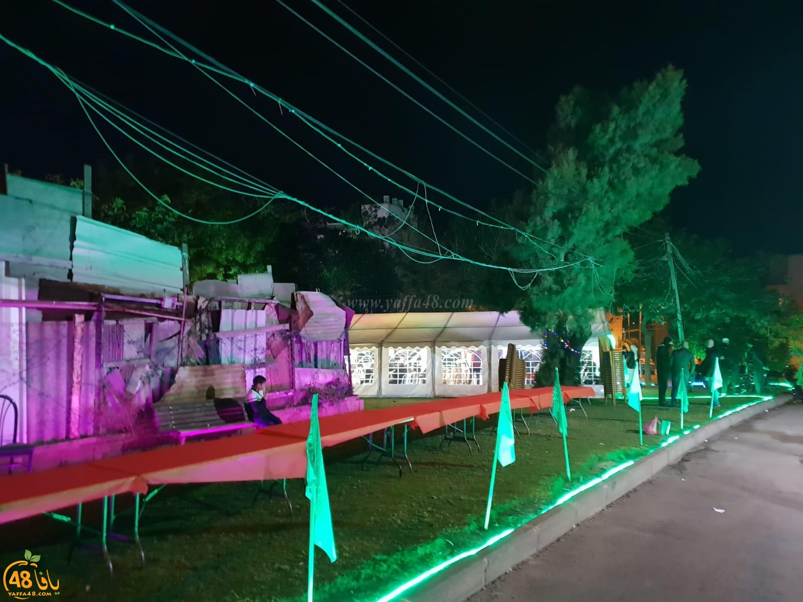الخير في الشباب - شباب لجنة اكرام الميت وخيمة الهدى يشيّدون 3 خيام في يوم واحد