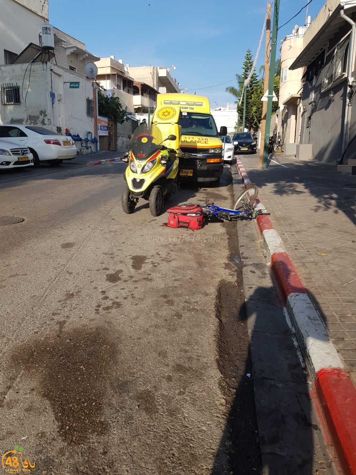 يافا: اصابة متوسطة لطفل سقط عن دراجته الهوائية