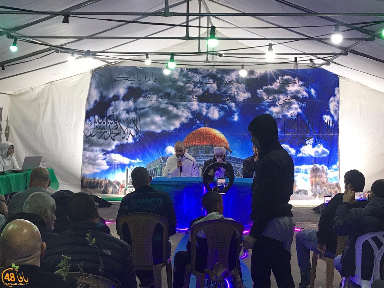 بالصور: خيمة الهدى تنظّم أمسية دعويّة في ضيافة عائلة سكسك بيافا