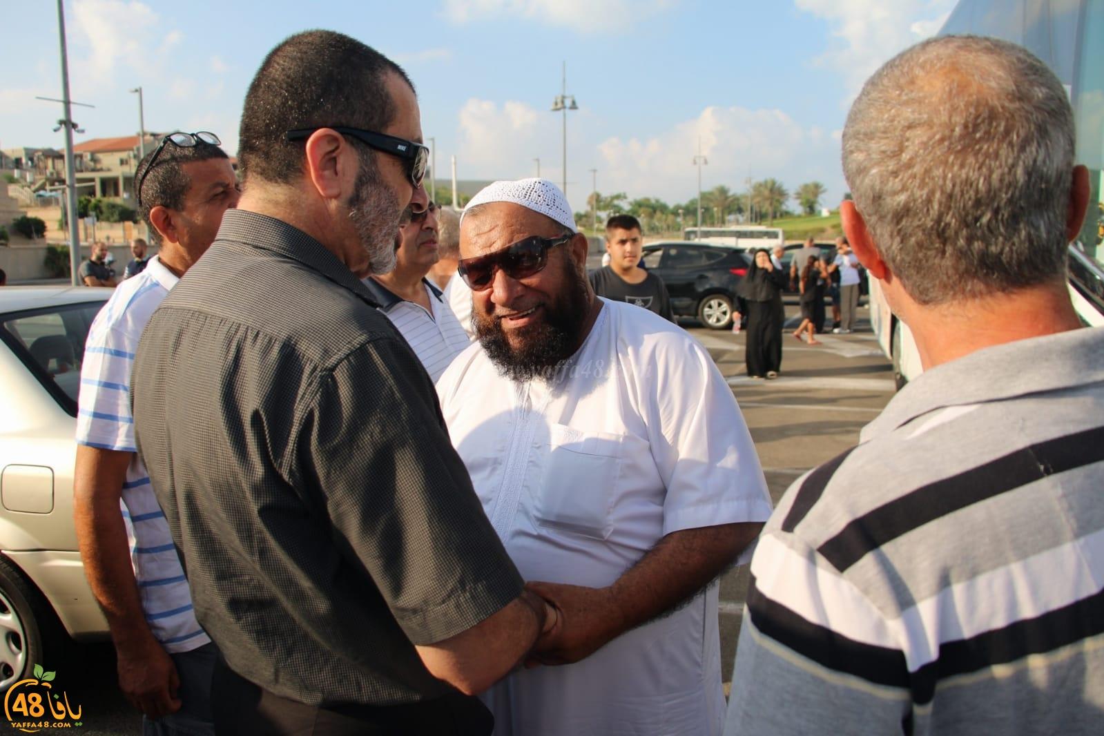 بالصور: باشراف لجنة الحج والعمرة - انطلاق الفوج الاول من حجاج يافا للديار الحجازية
