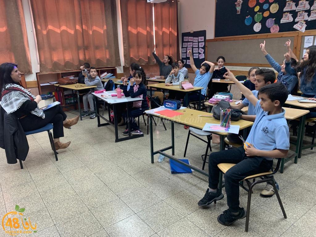 إدارة مدرسة النّجاح الابتدائيّة في قرية البعينة تكرّم ابنة يافا المربّية والكاتبة عبيدة بلحة