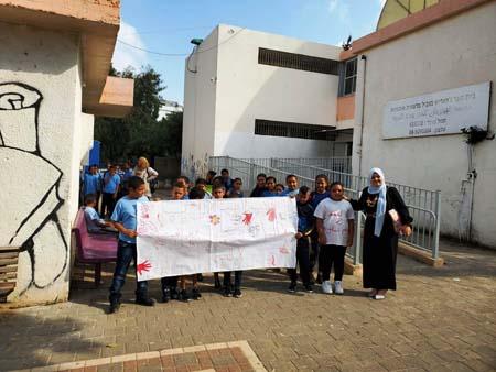 الرملة : طلاب مدرسة الجواريش يحلمون بغد خالٍ من العنف