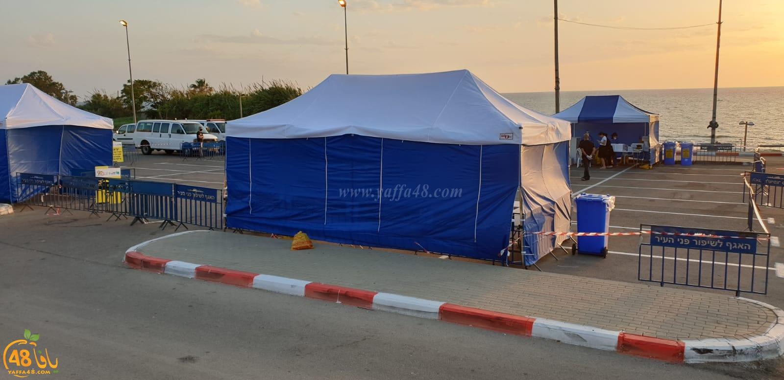 افتتاح محطة لفحص الكورونا في شارع كيدم بيافا