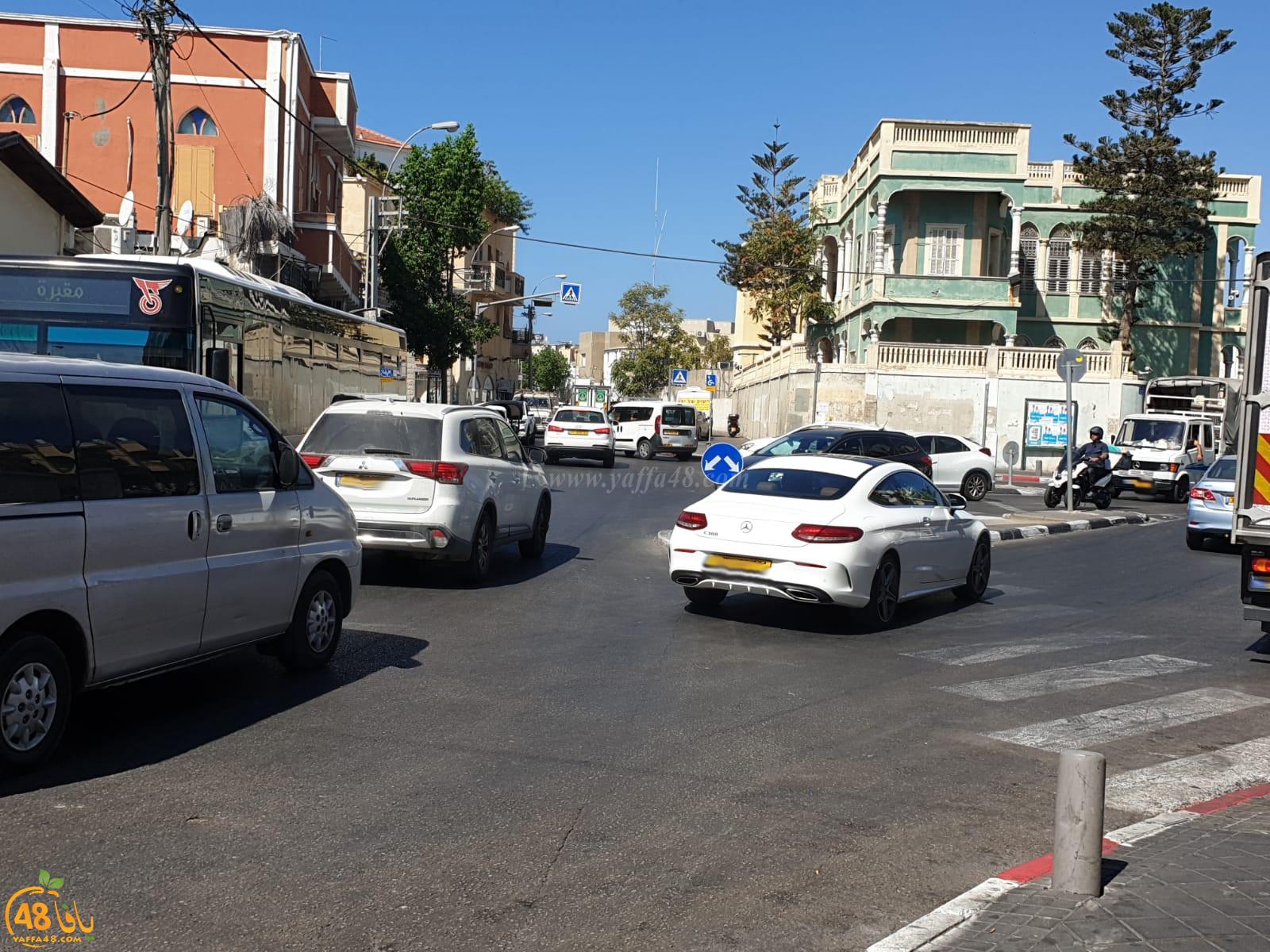 يافا: أزمة مرورية يشهدها شارع ييفت الرئيس على مدار الساعة