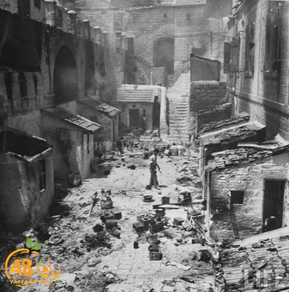 أيام نكبة  صور نادرة ليافا تُظهر حجم الدمار ومخلفات الحرب على المدينة