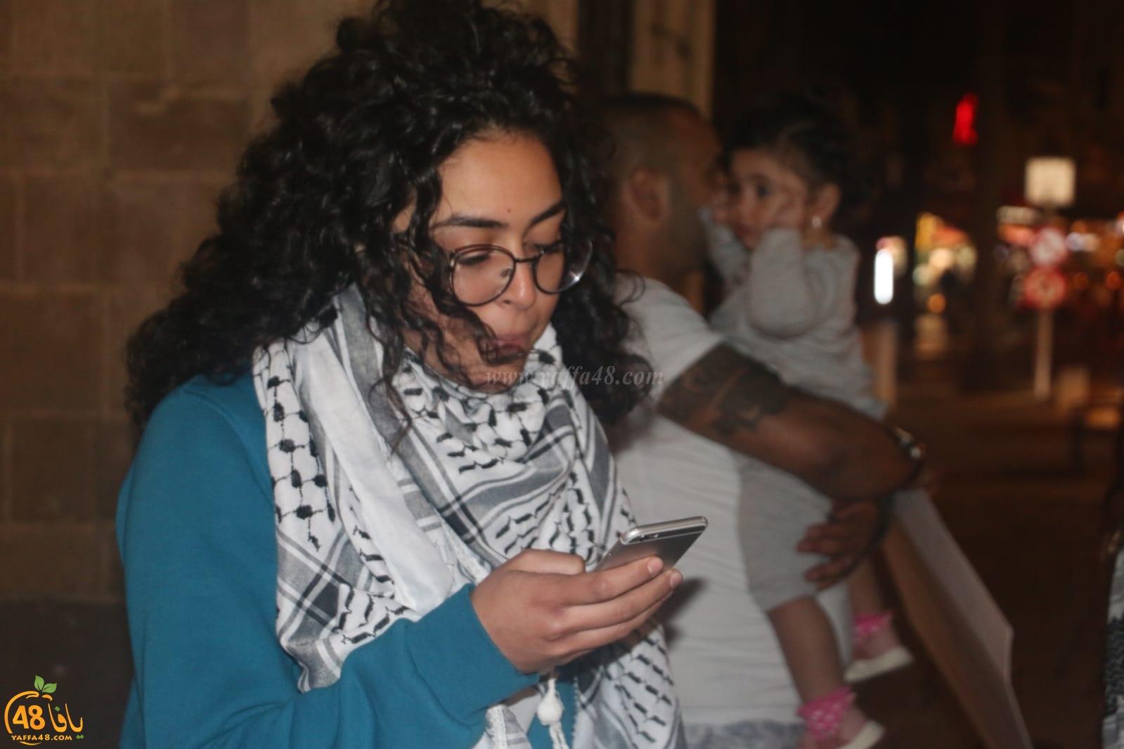 صور: للمرة الرابعة - أهالي يافا ينظمون وقفة تضامنية مع أهالي قطاع غزة المحاصر