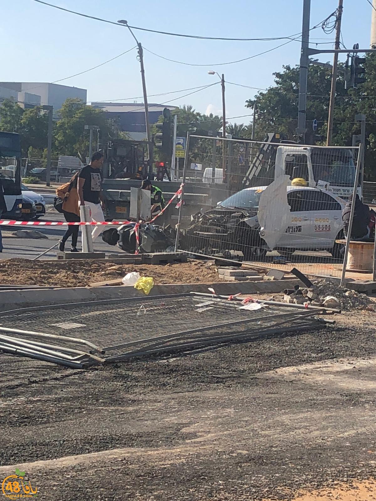 يافا: إصابة متوسطة لراكب دراجة نارية بحادث طرق