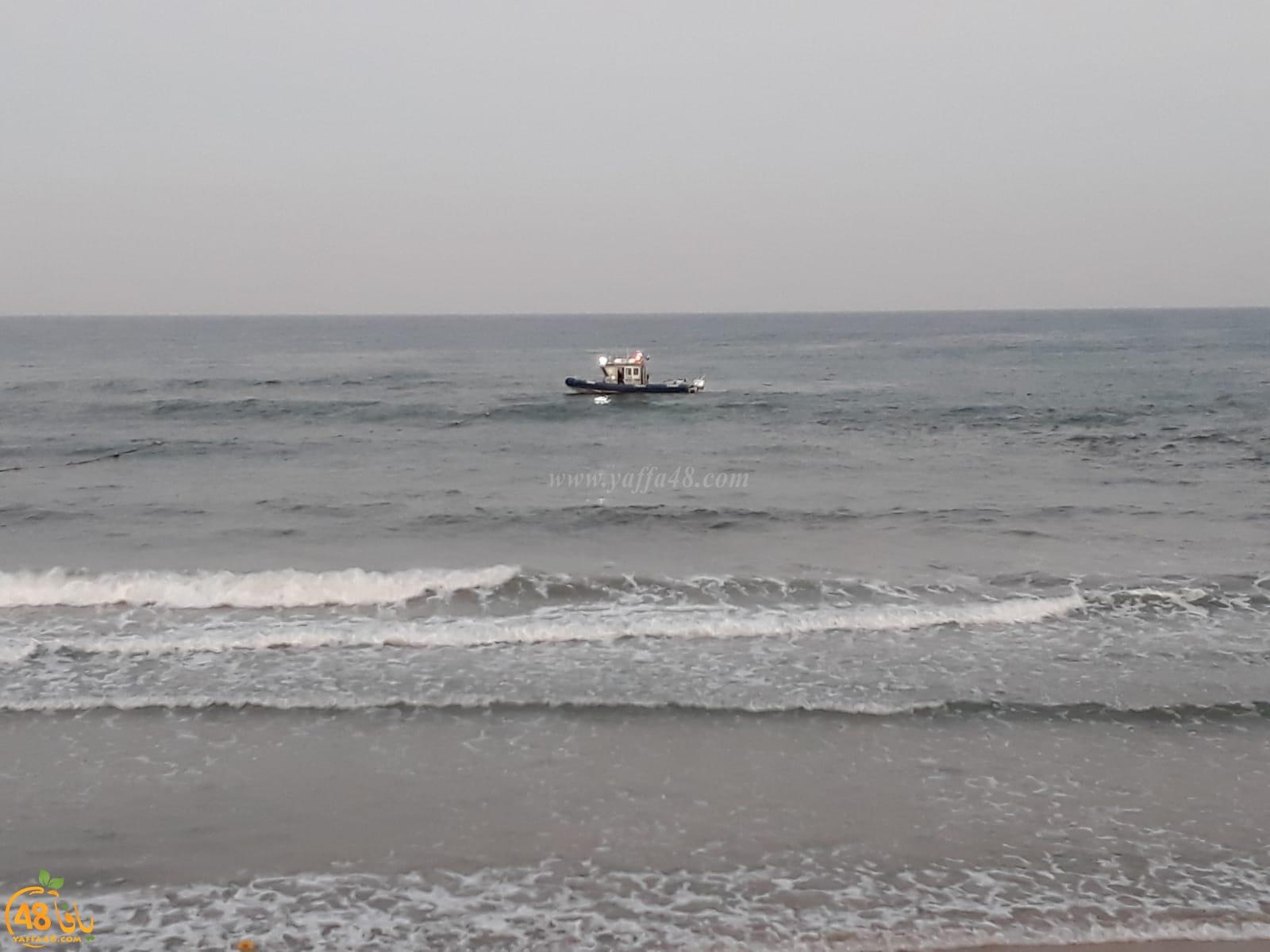 بالفيديو: أعمال بحث عن مفقود على شواطئ مدينة يافا