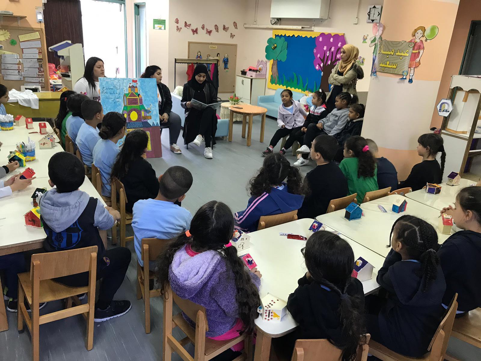 روح العطاء والتطوع للخير في يوم الأعمال الخيرية في مدرسة يافا الشاملة