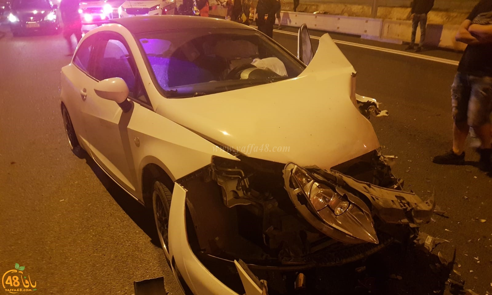 اصابة طفيفة لشخصين بحادث طرق قرب مدينة الرملة