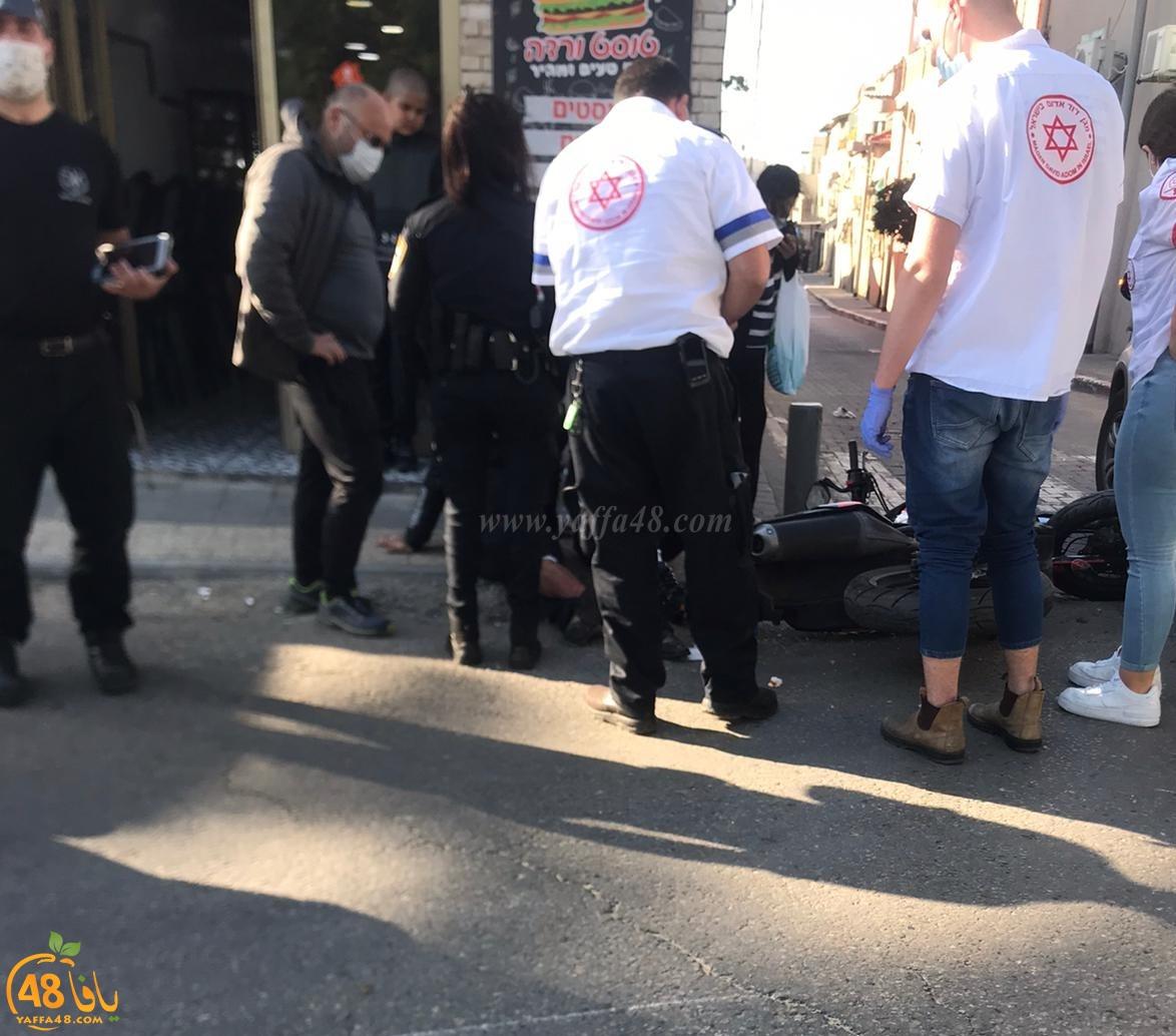 إصابة طفيفة لراكبة درّاجة ناريّة بحادث دهس في يافا