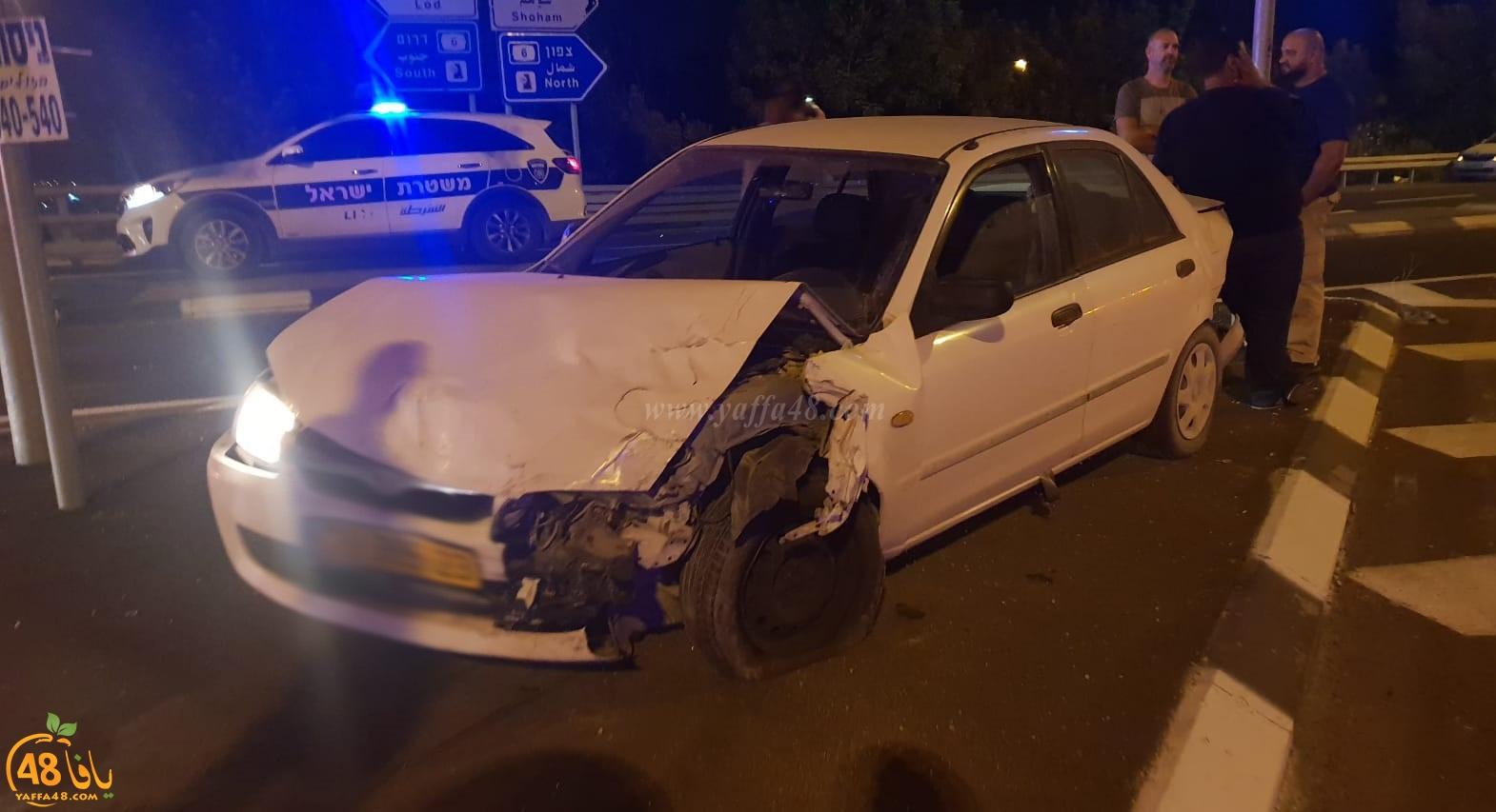 بالصور: اصابة 3 أشخاص بحادث طرق في مفرق بن شيمن
