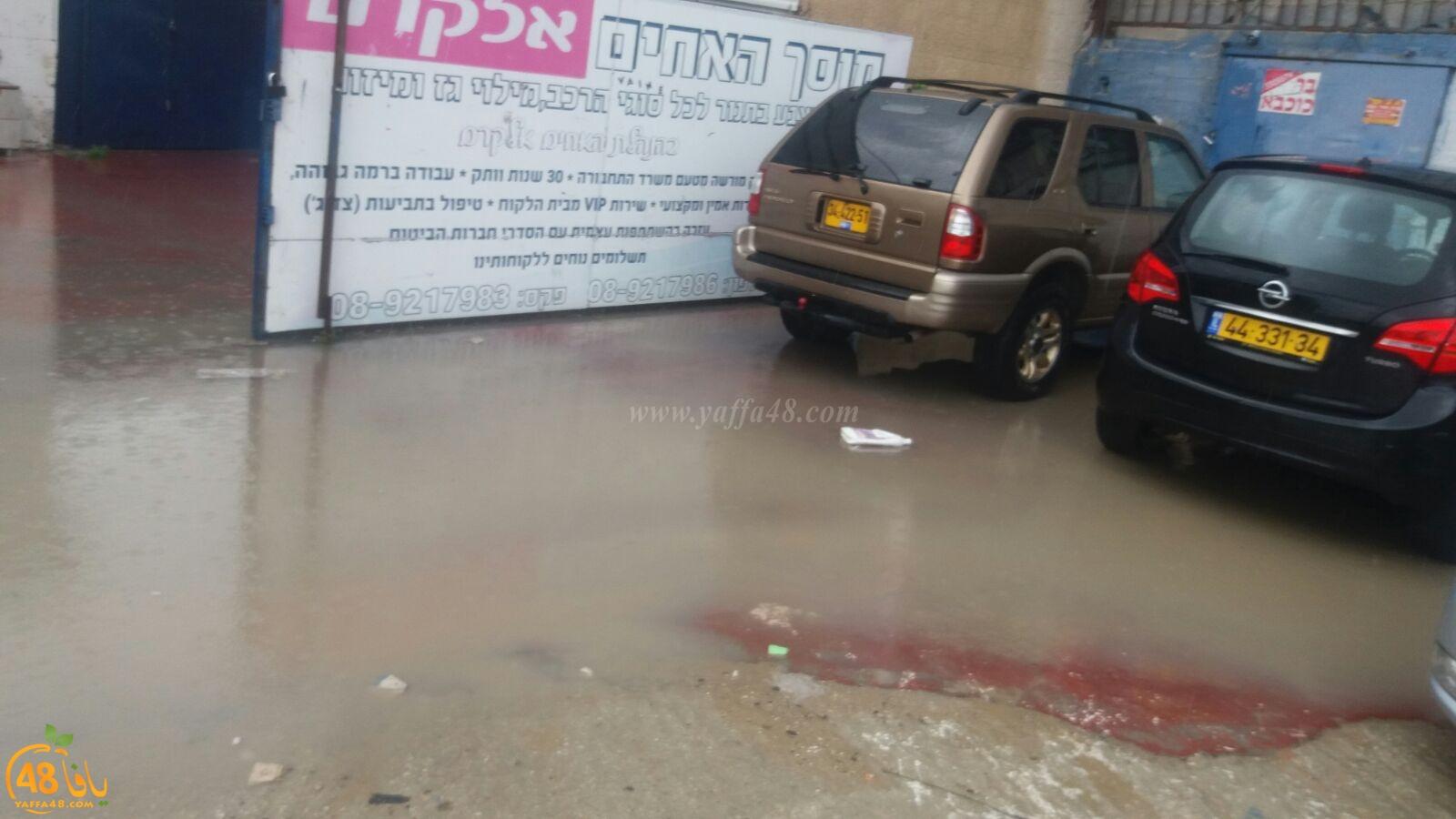 فيديو: أمطار غزيرة تهطل على مدينة اللد والسكان يشتكون ضعف البنية التحتية