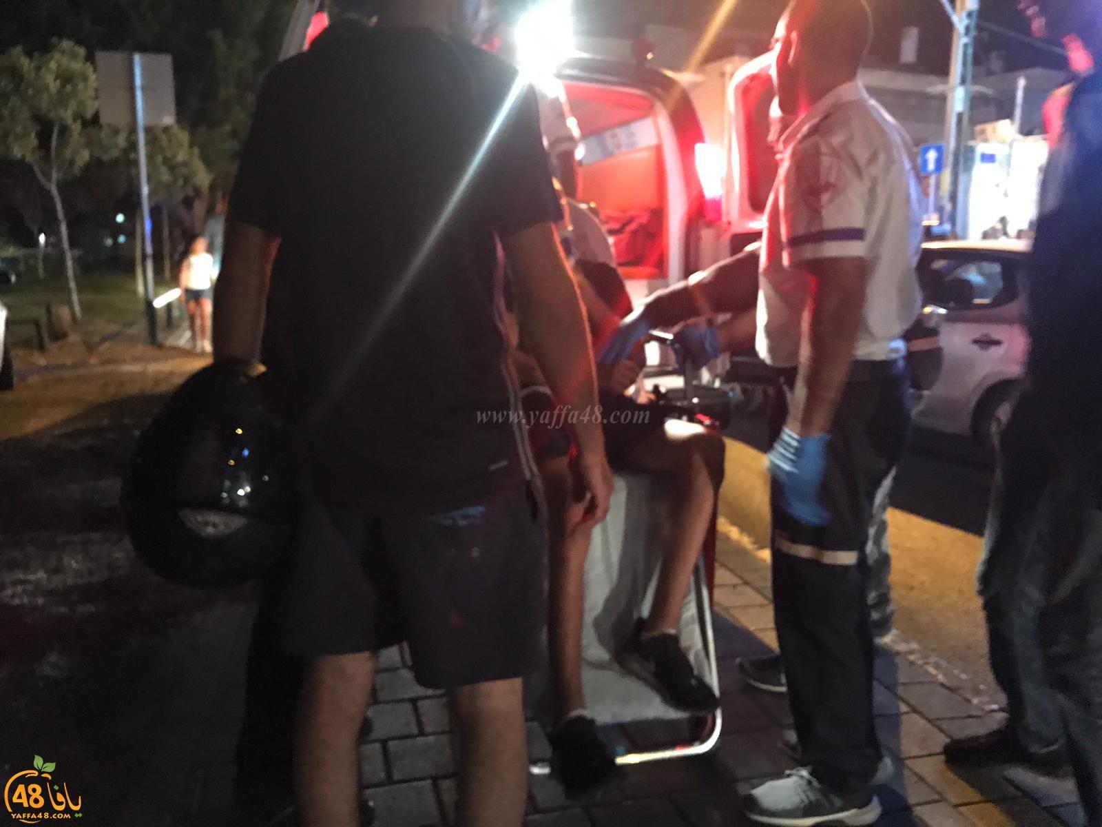 يافا: إصابة طفيفة لراكب دراجة نارية بحادث طرق