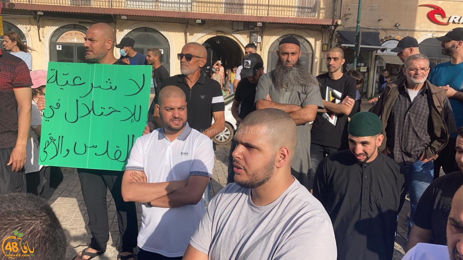 فيديو: وقفة احتجاجية في دوار الساعة بيافا نُصرةً للأقصى المبارك