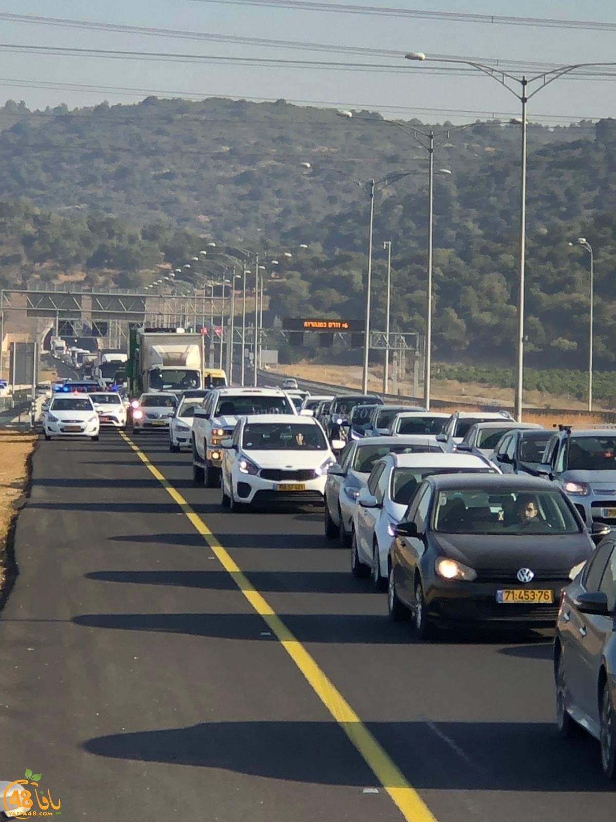 احتجاجا على استفحال العنف - انطلاق قافلة السيارات باتجاه القدس ومباني الحكومة الإسرائيلية