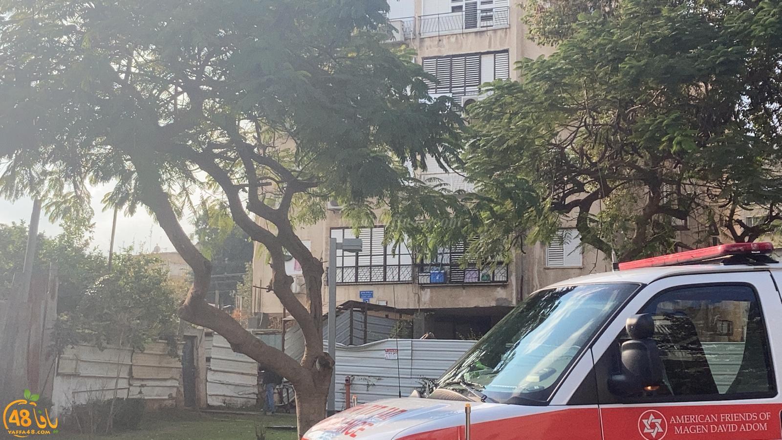 يافا: إصابة متوسطة لشخص اثر سقوطه من علو