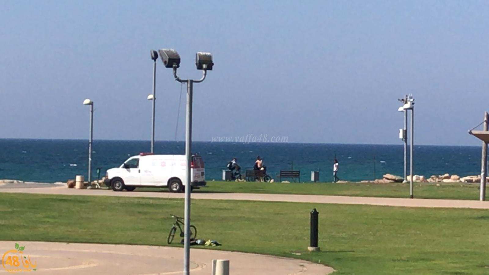بالصور: أعمال بحث عن مفقود على شاطئ حسن بك شمال يافا