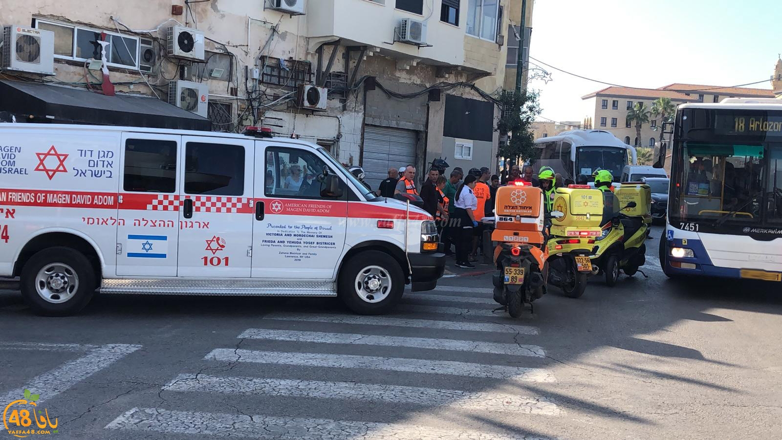 يافا: إصابة طفيفة لراكب دراجة نارية بحادث طرق قرب دوار الساعة