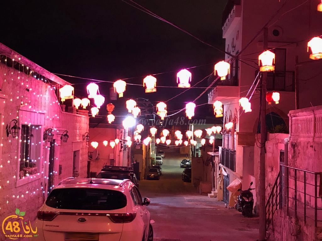 صورتي الأجمل - الأضواء والفوانيس الرمضانية تُزين أحد أحياء مدينة يافا