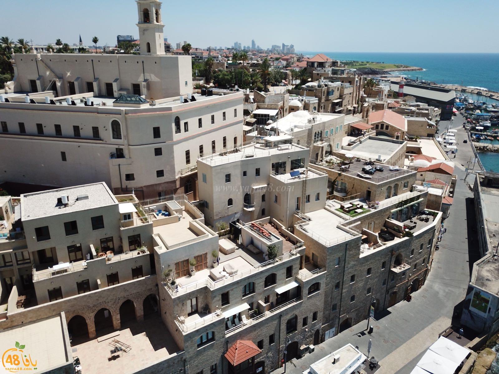 شاهد: أجمل الصور لمدينة يافا وبحرها ومينائها من الجو