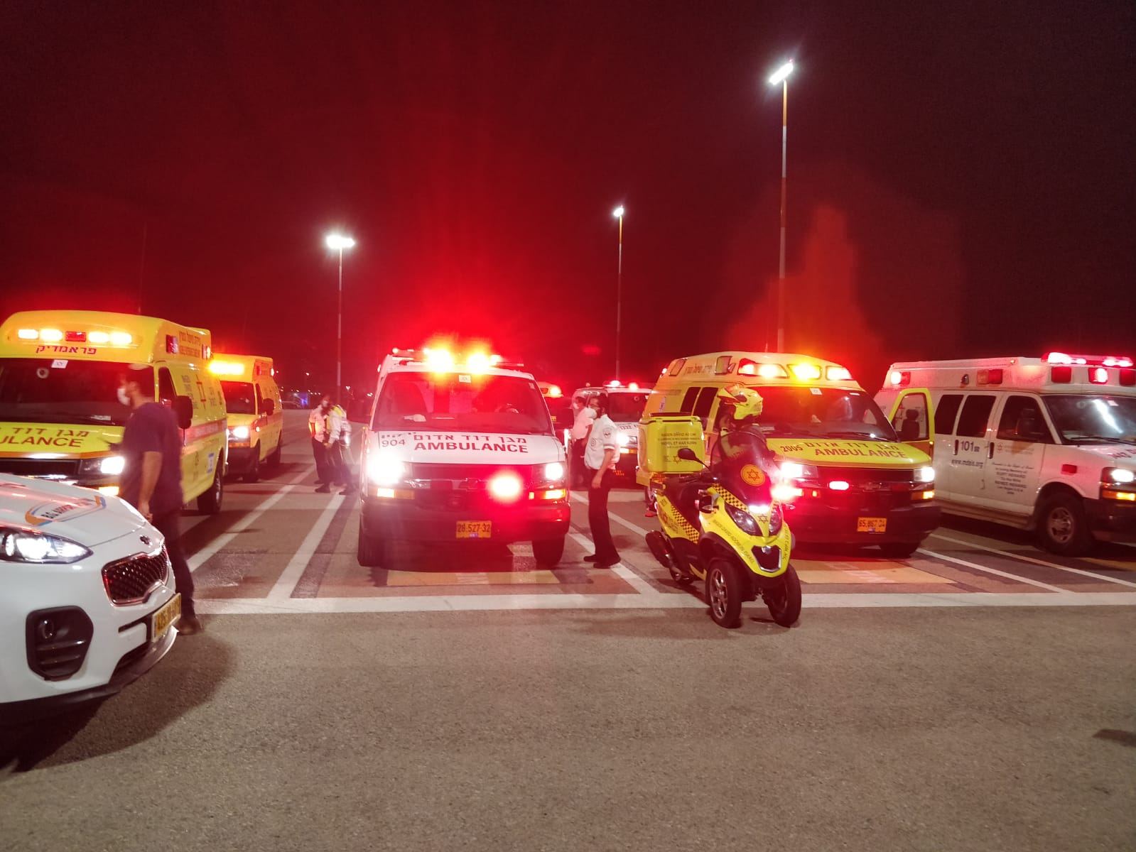 منتصف الليل.. إعلان حالة طوارئ بمطار بن غوريون إثر تعطل محرك طائرة