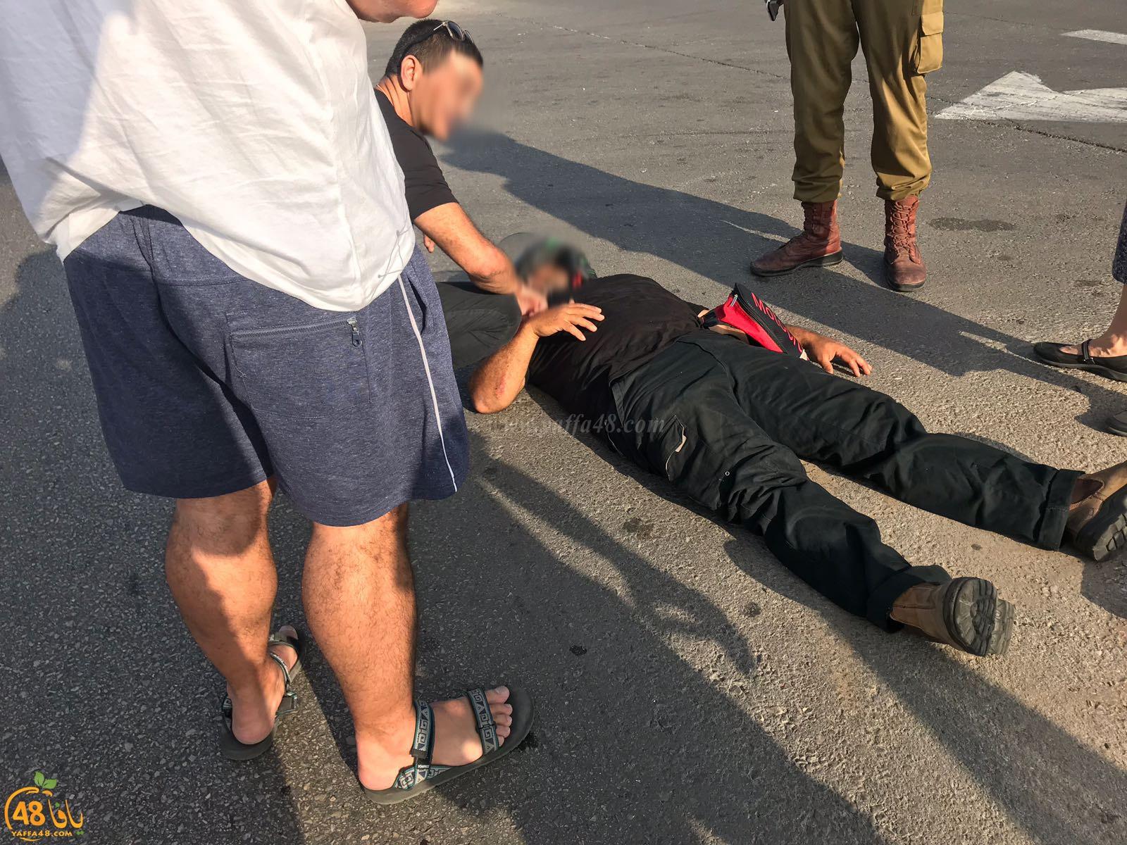 يافا: اصابة راكب دراجة نارية بحادث طرق قرب مستشفى فولفسون
