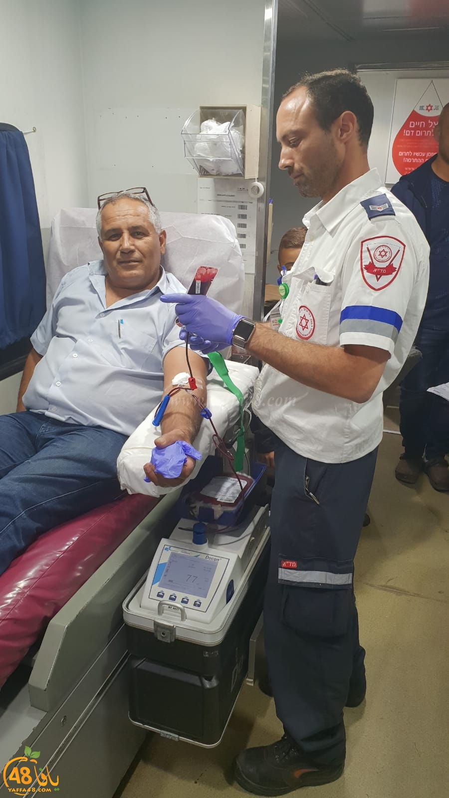 الرملة: عضو البلدية نايف ابو صويص يُنظم حملة للتبرّع بالدم