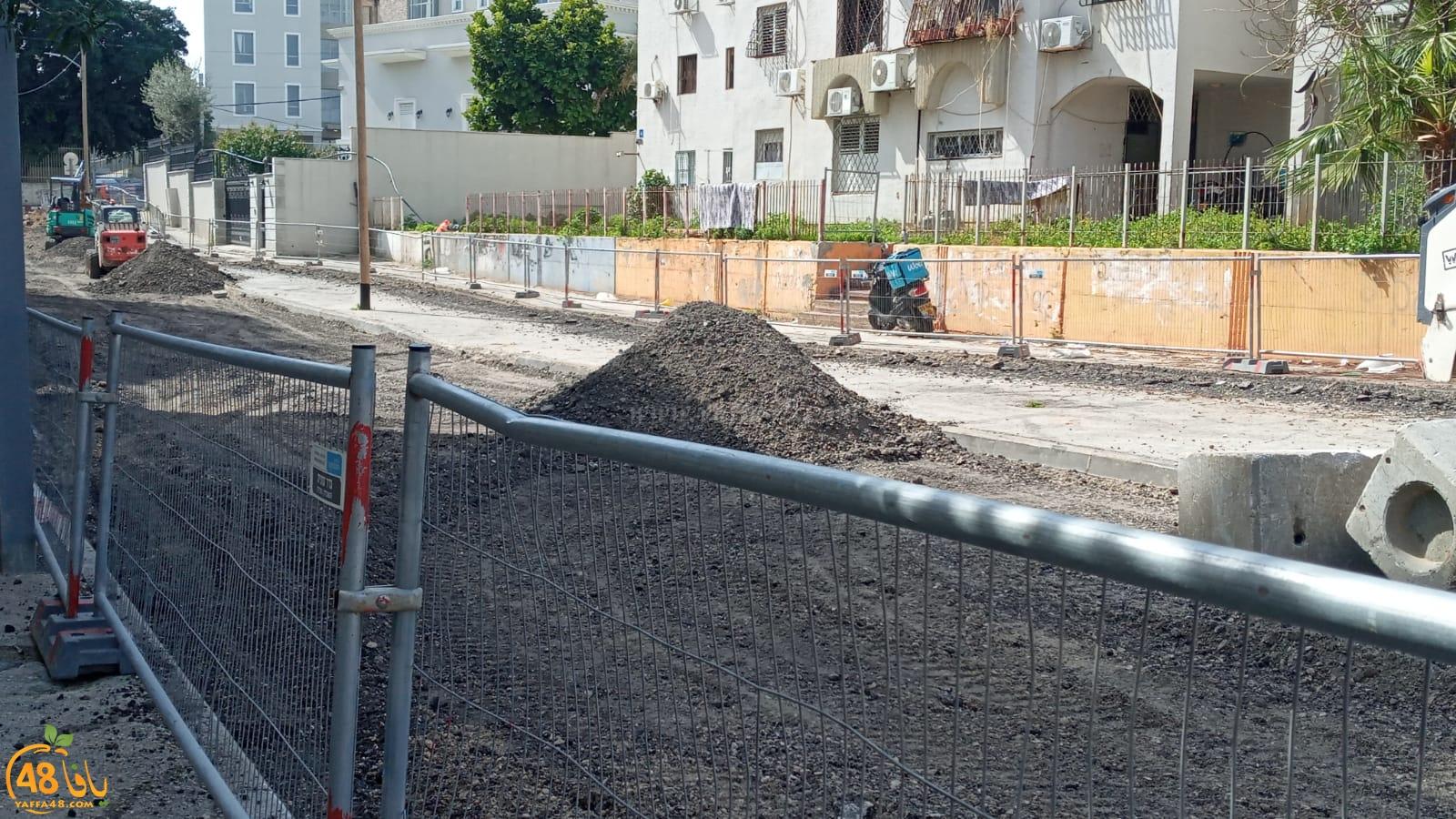 يافا: اغلاق شارع في حي الجبلية أمام حركة السير بسبب أعمال الترميم والصيانة