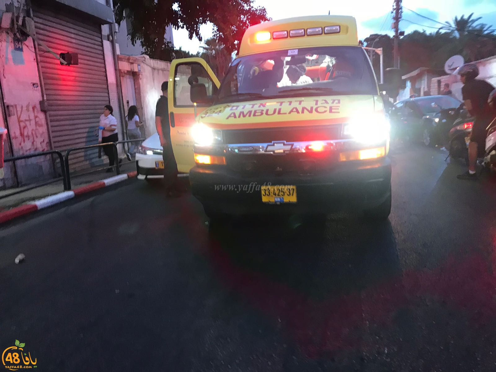 فيديو: اصابة 3 أشخاص بحادث طرق مروّع في مدينة يافا