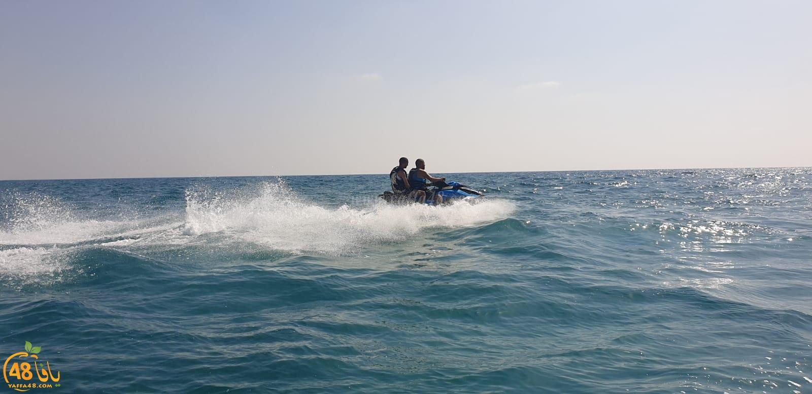 فيديو: رياضة الجيت سكي المائية تحظى باهتمام واسع لدى شباب مدينة يافا