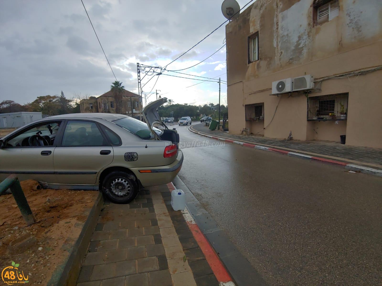 حادث طرق ذاتي في شارع غزة بيافا دون اصابات